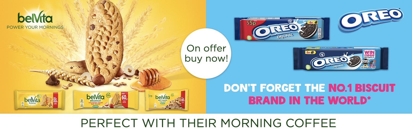Belvita and Oreo - Perfect with their morning coffee