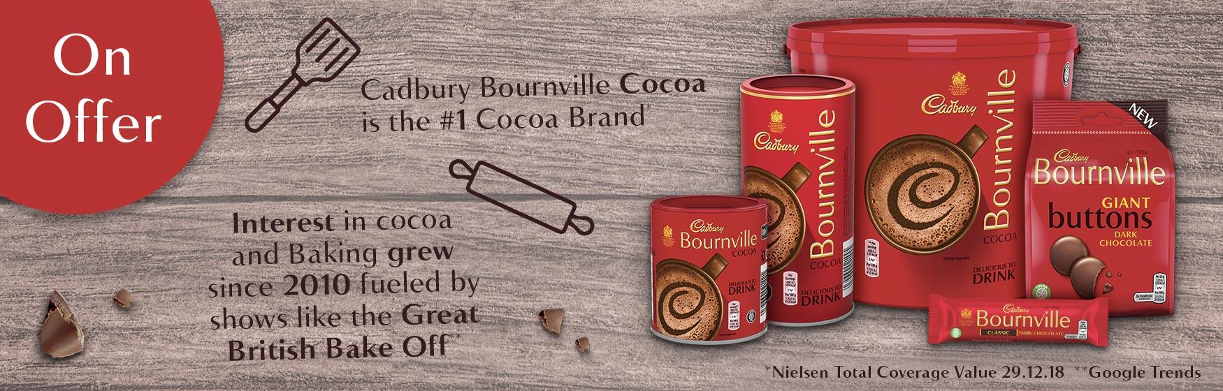 Cadbury Bournville Cocoa is the #1 Cocoa Brand
