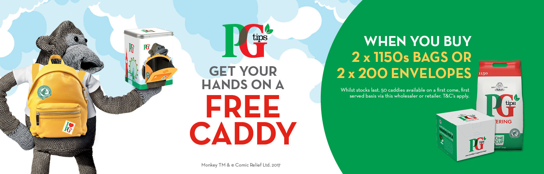 PG Tips - Free caddy