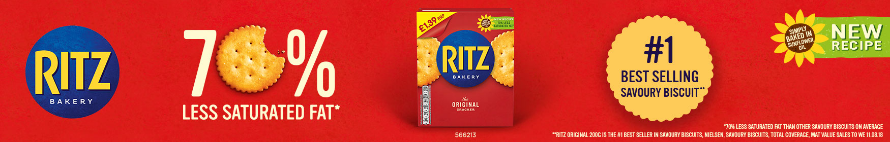 Ritz - 70% less saturated fat