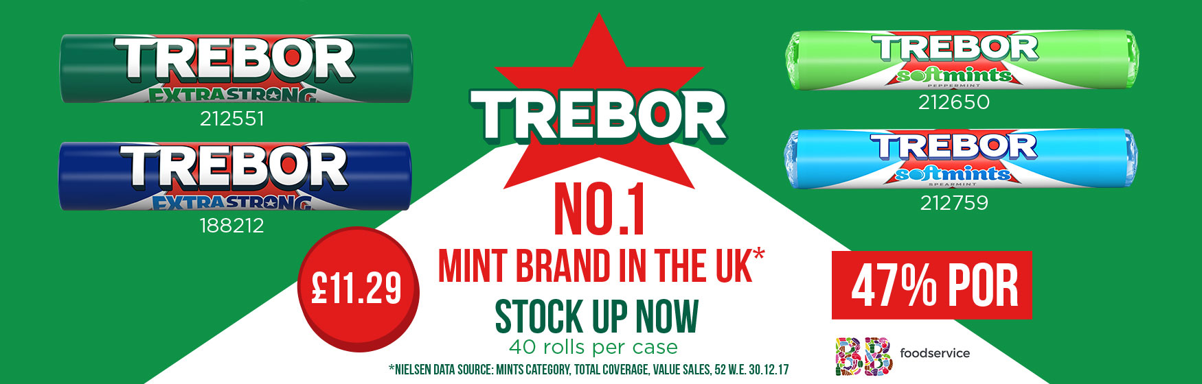 Trebor – No. 1 mint brand in the UK